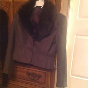 Hilliard & Hanson Blazer jacket gray/black size 6
